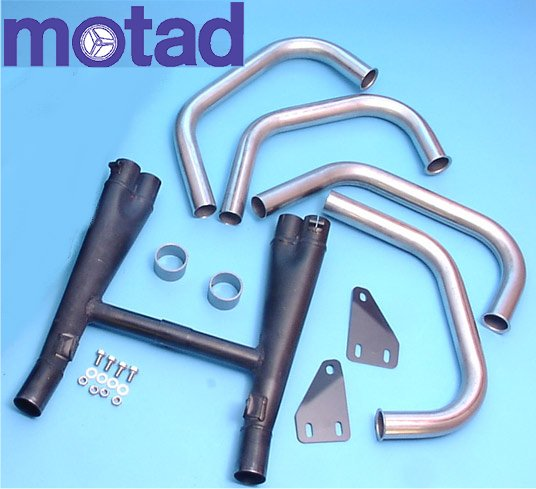 Motad Downpipes and Collector  image 1