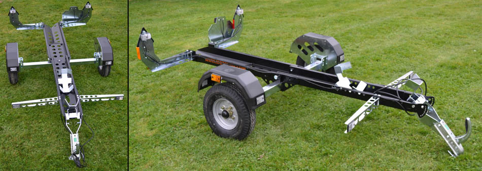 Foldable Collapsible Motorbike Car Trailers