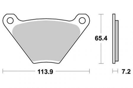 SBS 553H.HF Brake Pad