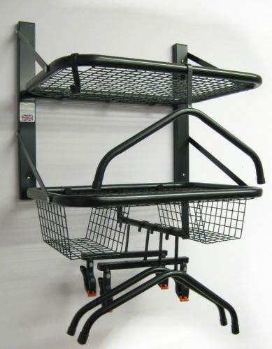 Double Biker Tidy & Motorbike helmet leathers clothing storage rider accessories hangers